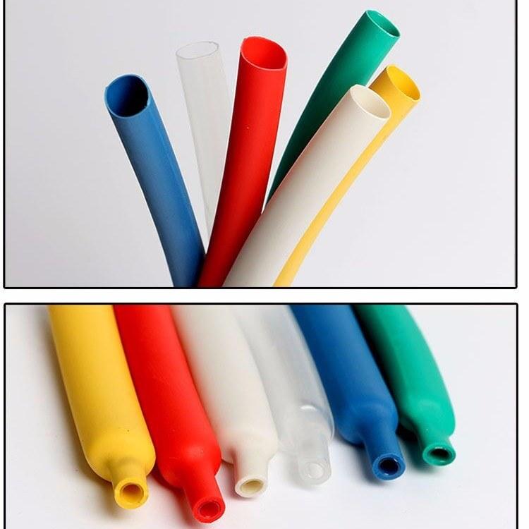 密封防水3倍收缩环保彩色带胶双壁热缩套管