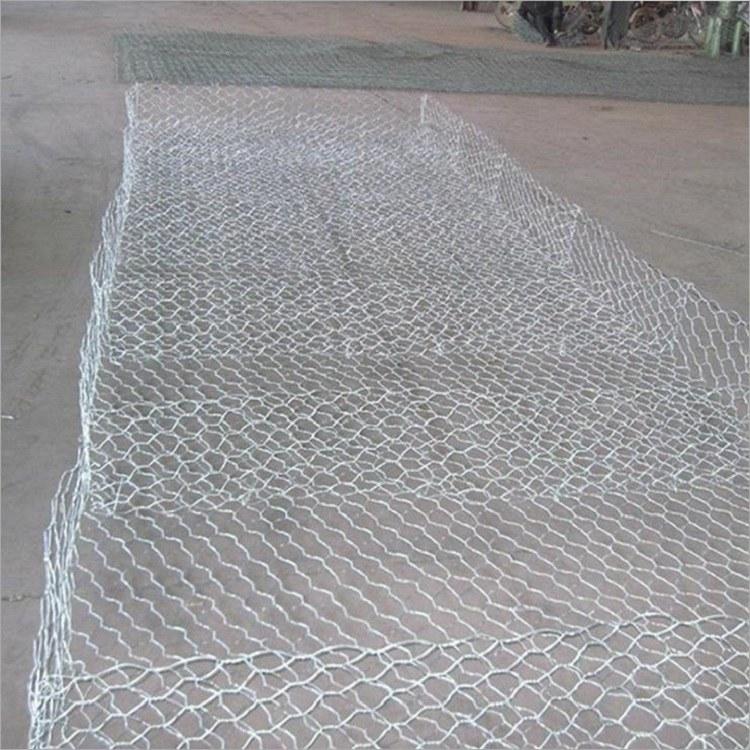 锌铝石笼网厂家直销耐腐蚀格宾笼防洪护河机编宾格笼