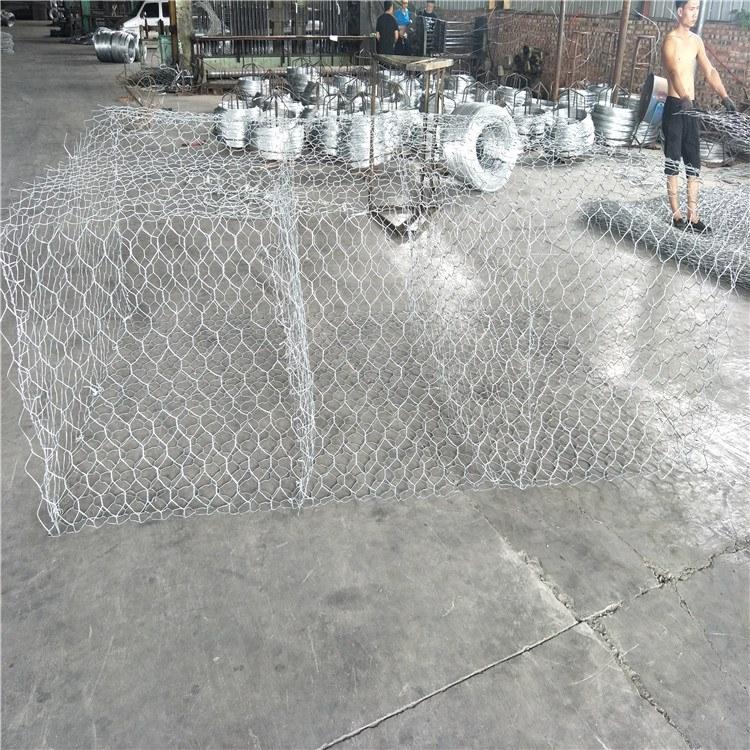 泰同石笼网厂家 镀铝锌合金河道使用格宾固滨笼网箱 价格低 安装简单