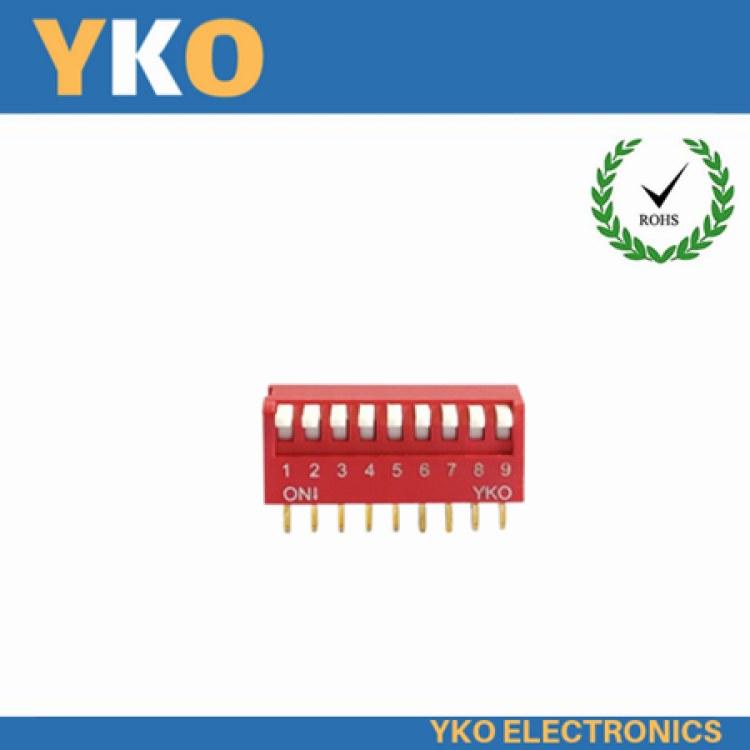 厂家供应高品质拨码开关 深圳厂家直销侧拨琴键YJC系列 10P耐高温