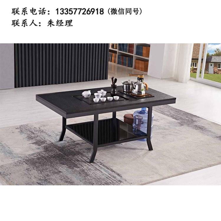 厂家定制 现代简约餐厅 圆桌  接待桌双人位 茶台 钢架茶几 批发XF-02
