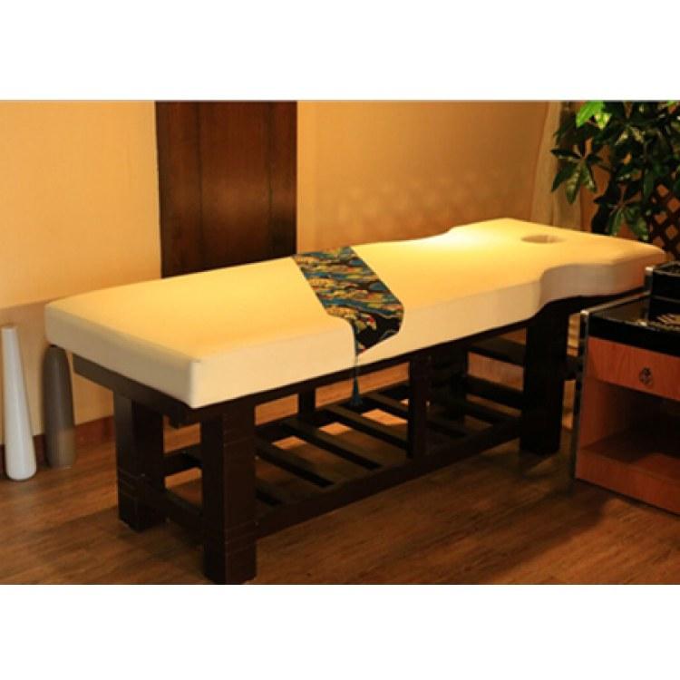 豪匠HJ厂家定制 美容床 实木 木质按摩床厂家 广州番禺加工