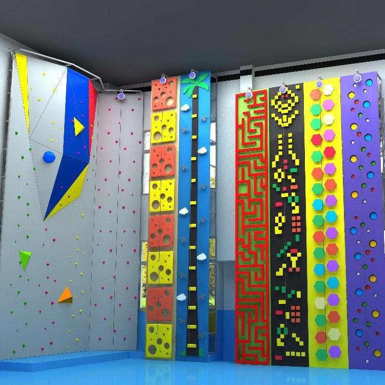 室外扣扣攀厂家 攀岩带定制 室外攀岩架设备-上海聚巧