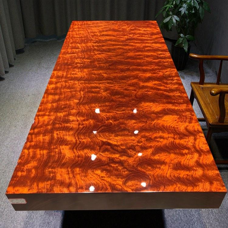美式老板桌总裁桌实木长桌电脑桌子简约现代长条茶桌椅组合大板桌