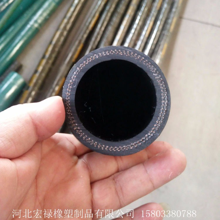 宏禄加工定做 低压夹布耐油胶管 夹布输水胶管 低压橡胶管
