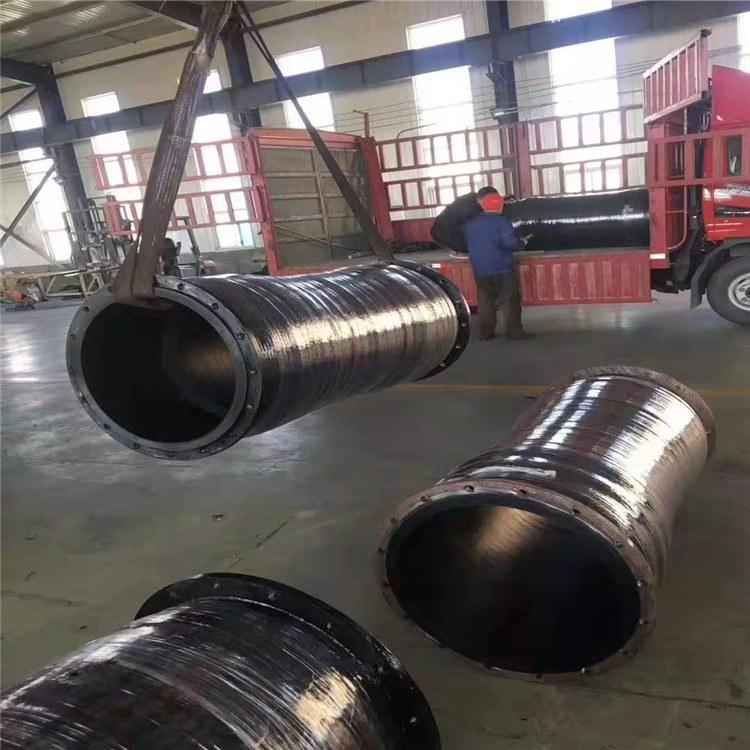 德利螺旋钢丝输水橡胶管 矿用耐酸碱耐磨大口径输水胶管批发