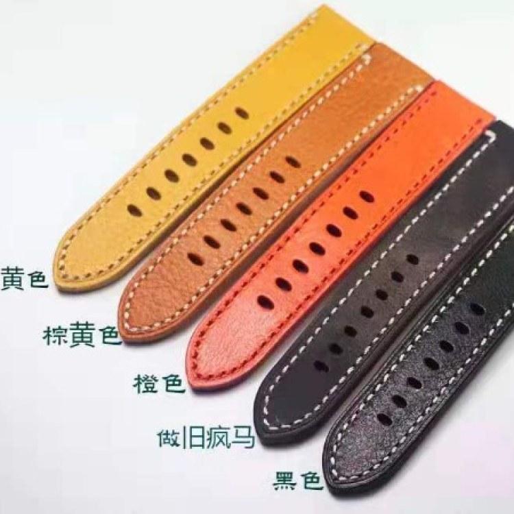 纯手工牛皮表带牛皮手表带配件零部件厂家