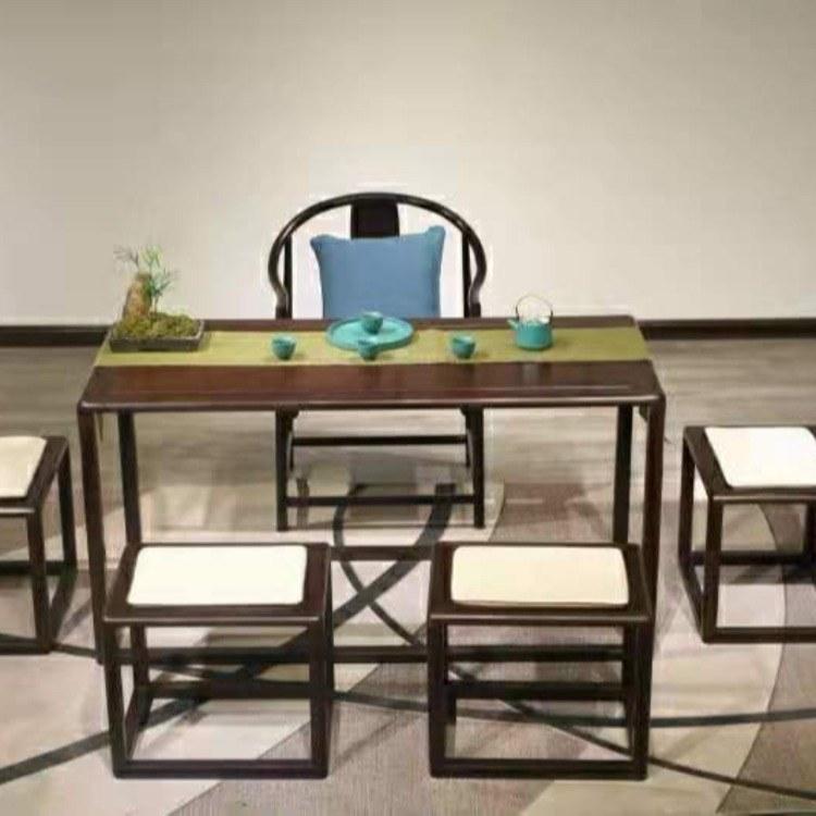 新中式黑檀实木茶桌椅组合功夫茶台现代茶艺桌禅意高端家具