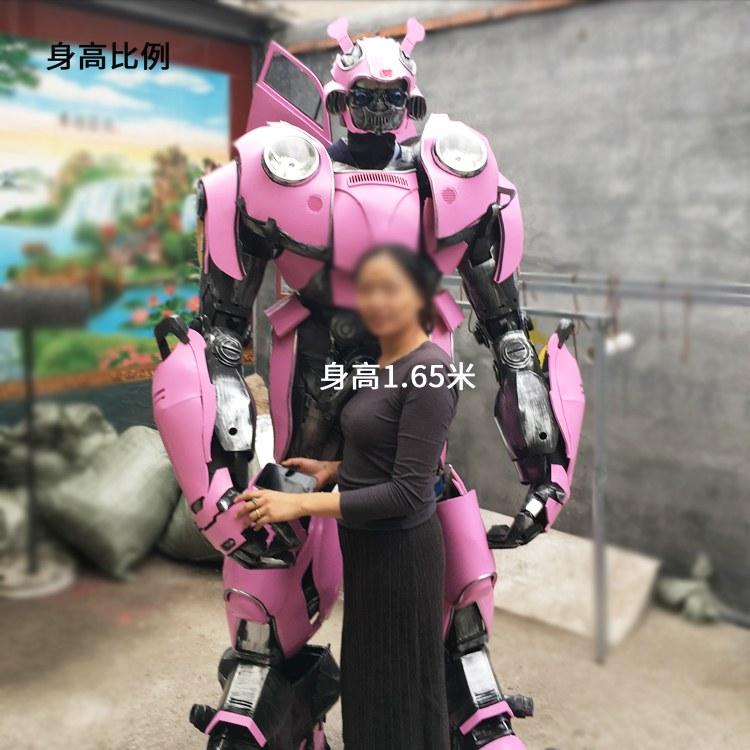 厂家定制人穿变形金刚盔甲甲壳虫变形金刚人穿服装道具模型cos机器人 鸿业模型工厂