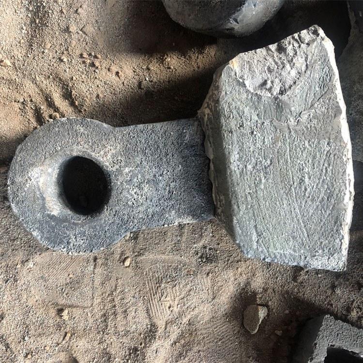 长期供应高锰钢锤头 破碎机配件 定制多型号锤头 价格合理