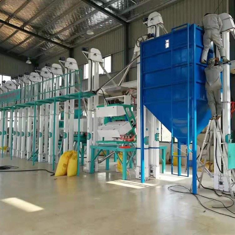 双帆机械大米加工设备厂家 小型精品大米成套加工设备 日产30吨