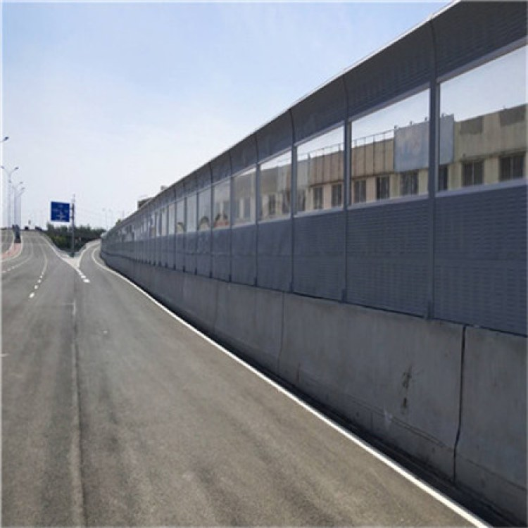 广西快速路隔音墙 高速公路玻璃钢声屏障 铁路高架桥梁 隔音墙 消音墙
