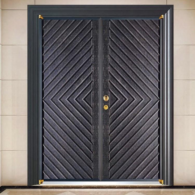 东莞厂家直销别墅铝合金铸铝门 现代风格铸造防爆门工程定制
