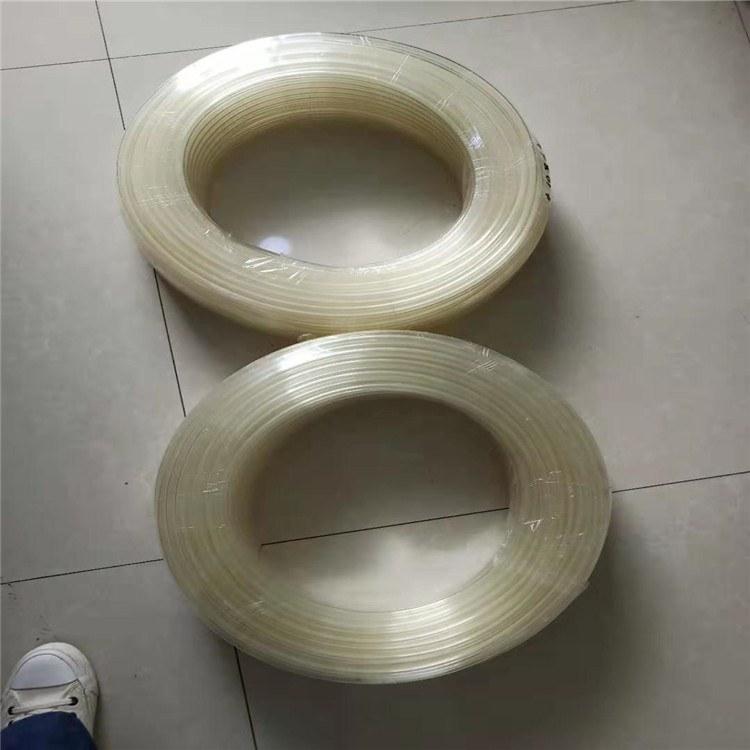 德利卫生级透明PU管镀铜钢丝通风除尘PU管抽吸输送软管厂家