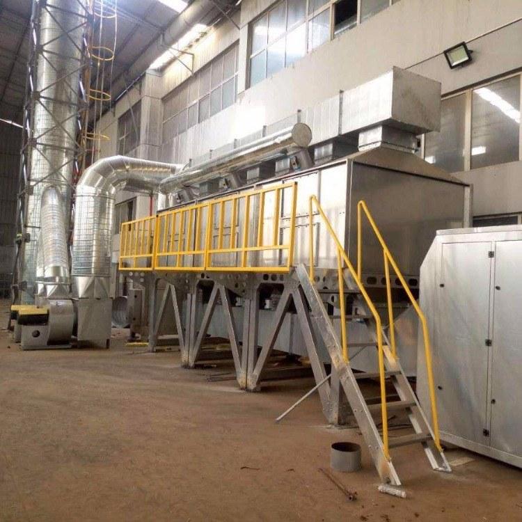 河北供应喷漆房三万风量RCO催化燃烧装置 RO有机废气处理设备 RCO废气处理化环保设备