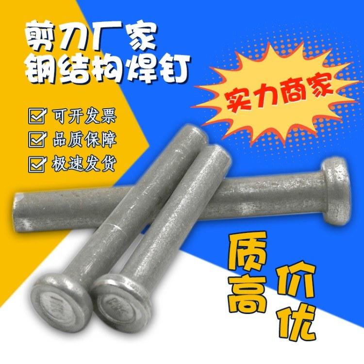 高强度刚度连接焊钉 圆头19*80焊钉 氧化发黑焊钉 可定制