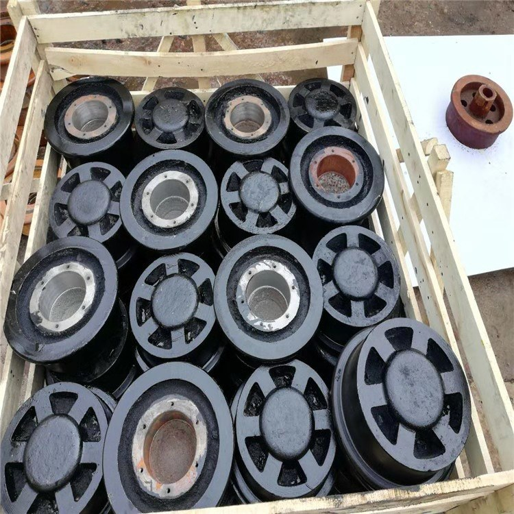 双边轨道轮生产厂家 煤矿铁路用矿车轮 铸钢铸铁实心空心轮对