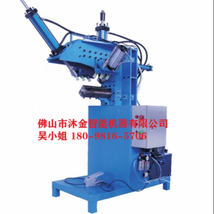 佛山沐金自动化水槽设备厂家  水池直线压缝角机  商用手工水盆压缝机