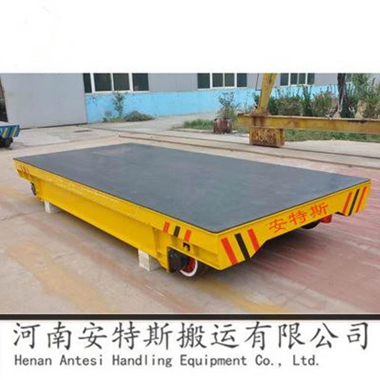 河南安特斯定制蓄电池轨道电动平车匀速平移轨道遥控平板车厂家直销
