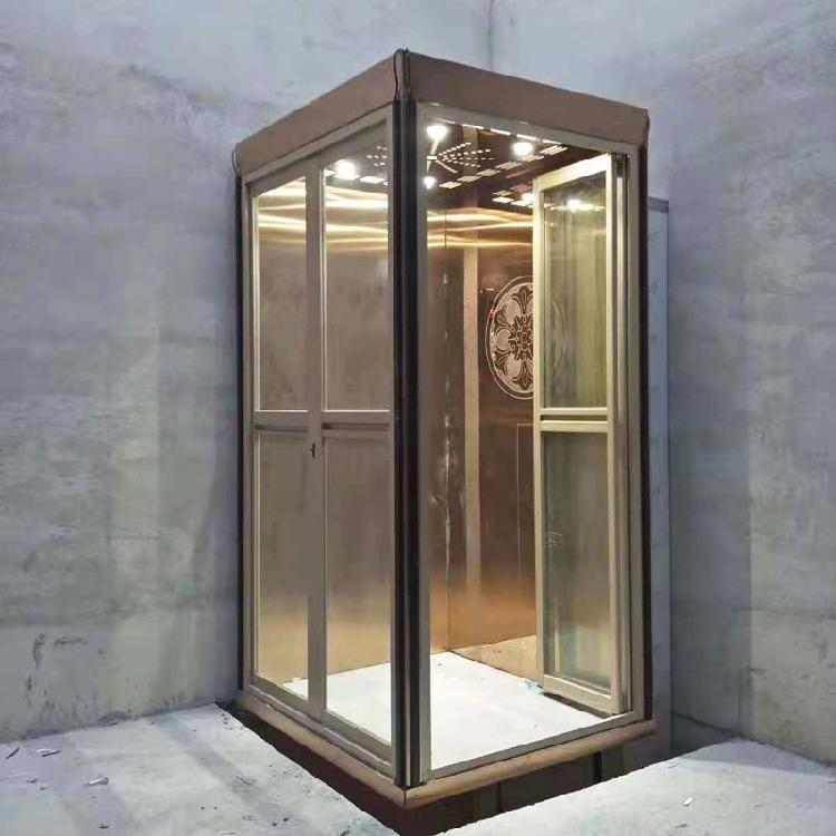 德州别墅时尚家用电梯品牌 乘坐2人3人家用小型电梯定制 小型家用乘客升降机厂家直销