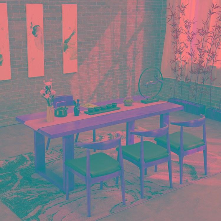商用美式复古风工业风沙发卡座铁艺酒吧清吧音乐吧咖啡厅桌椅组合