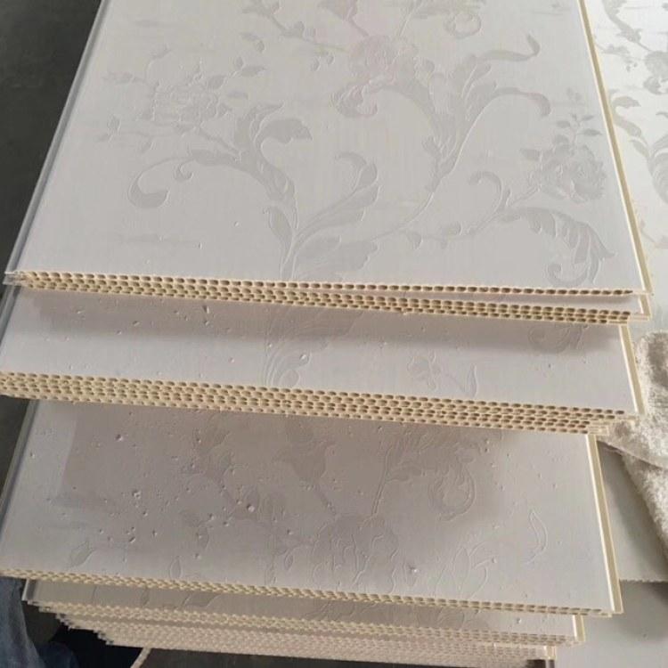 厂家现货批发石塑墙板40宽8V集成快装板卡扣装饰材料工程板