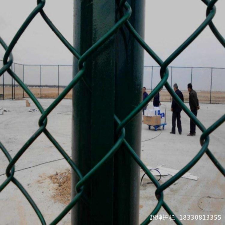 学校运动场围网足球场操场草绿色菱形勾花蓝球场围网定制