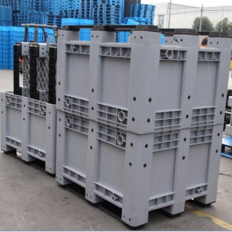 上海物豪料厂家直销物豪牌封闭式箱式托盘-又称为货物周转用卡板箱-采用优质全新料载重高韧性好