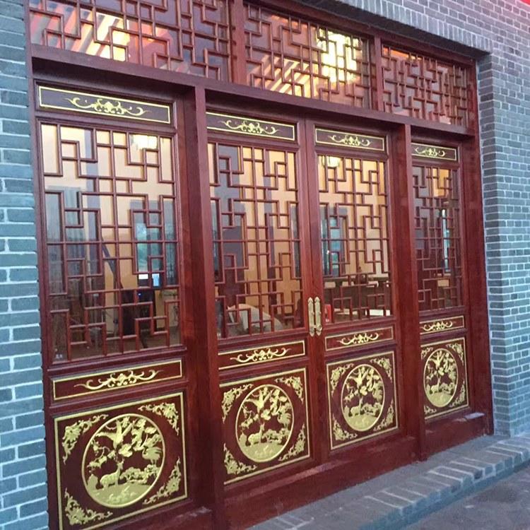 长期供应仿古门窗 中式装修 实木材质 价格合理