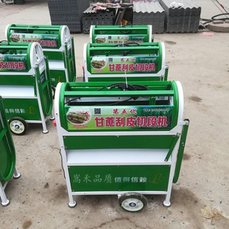 甘蔗刮皮机截断机 自动甘蔗刮皮机 嵩禾SH厂家批发价