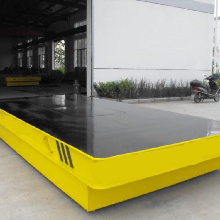 河南安特斯厂家直销钢结构过跨电动平车蓄电池无轨胶轮平板车工业电瓶平板车
