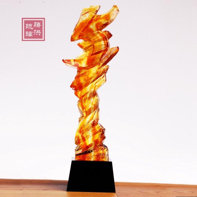 南昌奖杯批发厂家 南昌琉璃奖杯高档奖品 年会奖品厂价直销
