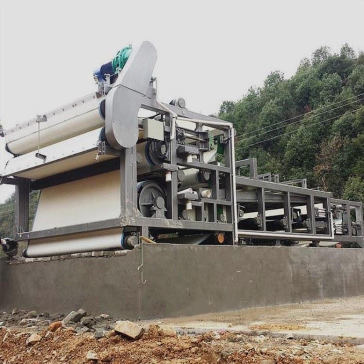采德供应污泥带式压滤机 洗砂带式压泥机 污水处理厂带式浓缩压泥机