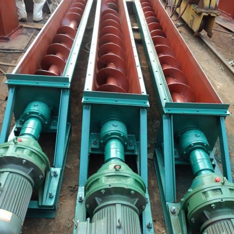 水泥厂WLS型无轴输送设备 蛟龙螺旋输送机 U型槽式螺旋输送机 除尘配件