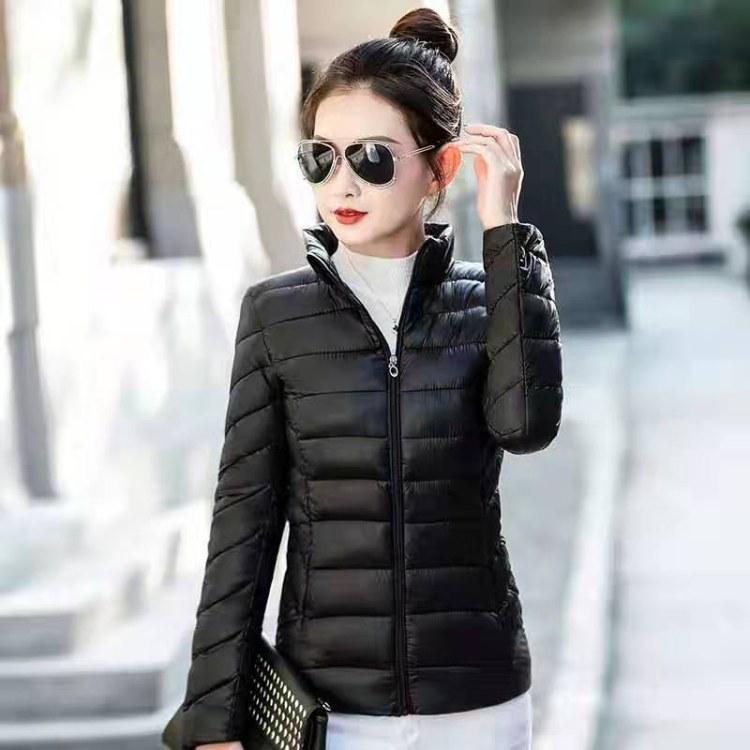 2019冬季新款棉服女装短款韩版修身棉袄大码女装连帽花色棉衣外套潮