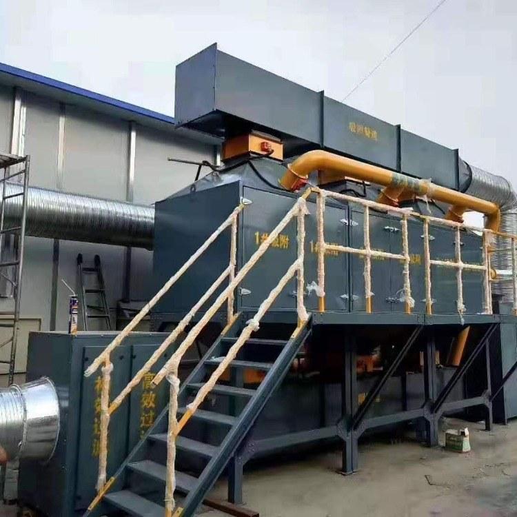 供应催化燃烧废气处理设备 VOCs有机废气催化燃烧设 家旭厂家定制