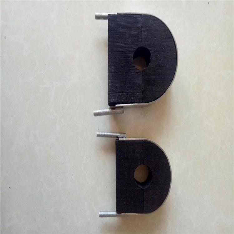 久丰黑色防腐空调木托 沥青防腐管道木托 管道垫木 空调管道木托