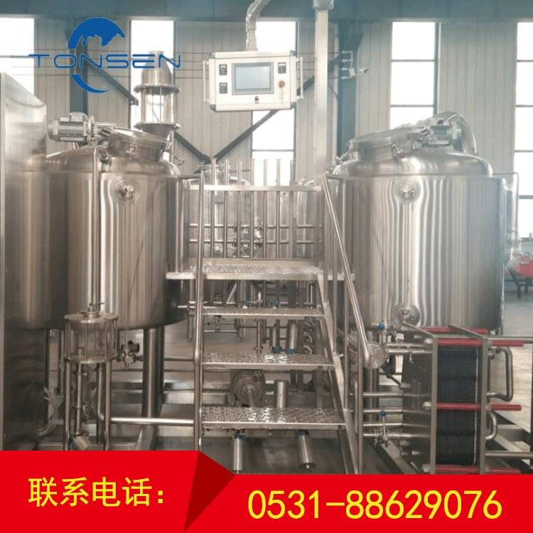 300L 两体三器  糖化系统配备600L热水罐    精酿啤酒设备