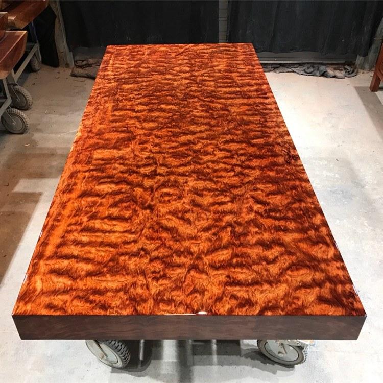 原木老板桌办公桌椅组合奥坎黄花梨巴花新中式实木大板桌茶桌茶台茶海