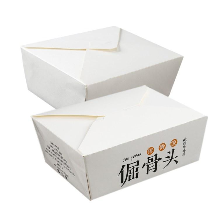 一次性牛皮纸质餐盒长方形定制外卖饭盒快餐打包盒炸鸡寿司便当盒 意点森昂安徽生产