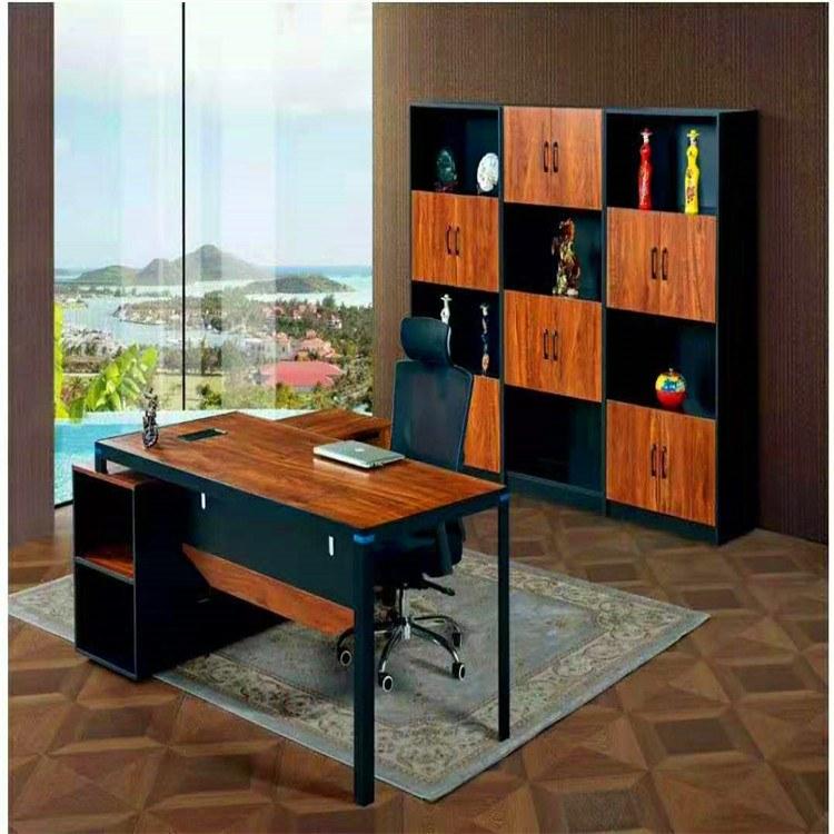簡約現代板式大班臺主管經理桌總裁辦公桌老板桌組合可定制