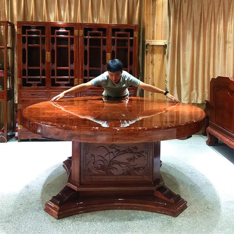 巴花大板桌组合大板桌桃木大板胡奥坎黄花梨办公桌原木会议桌实木