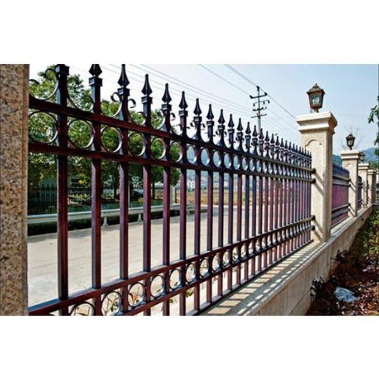 围墙栏杆  别墅小区围墙栏杆  郑州铁艺护栏
