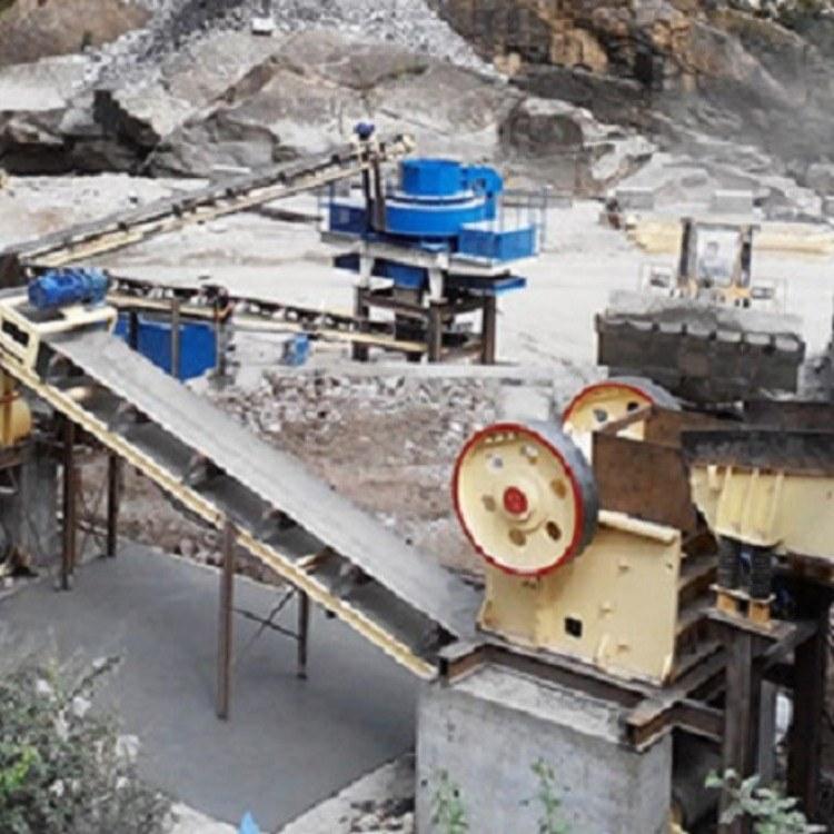 非金属立轴粉碎制砂机 时产30吨板锤破碎机 板锤制砂机生产线