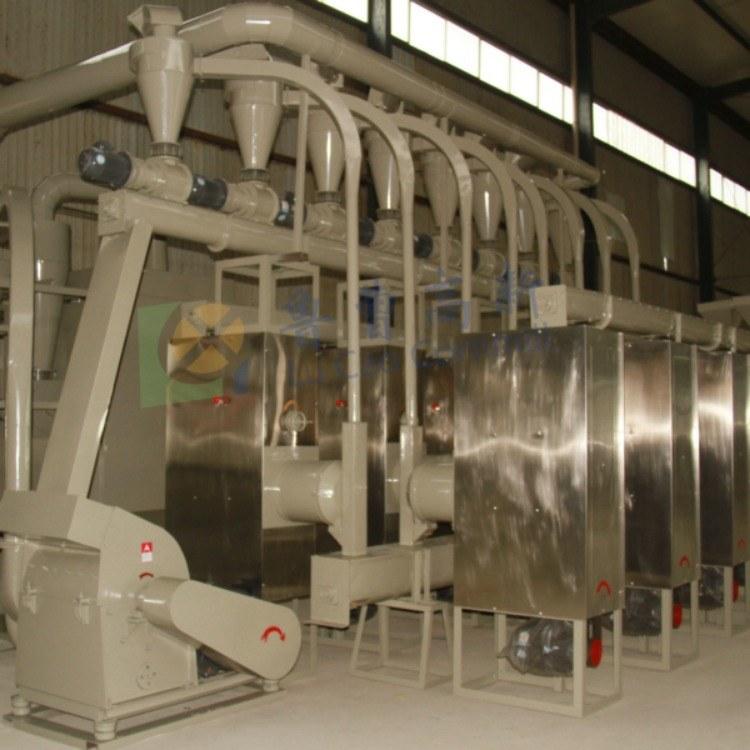 鲁曹高新 6FW-B100 日产100吨豌豆脱皮机组  精品高效大豆脱皮机组