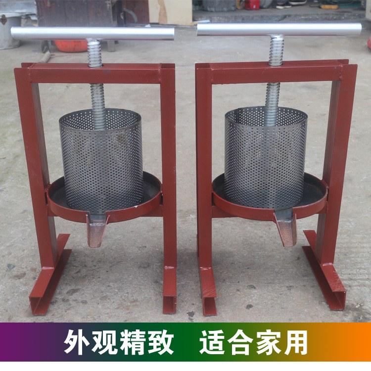 长沙欧龙 专业厂家生产小型家用压油机 榨油机手动铁质猪油渣饼压榨机 辣椒水果榨汁机优质供应