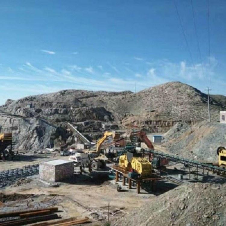 赤铁矿立轴制砂机 时产30吨板锤破碎机 板锤制砂机生产线