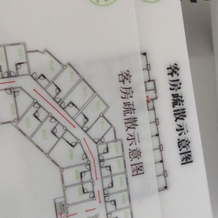 消防疏散图 uv打印 广告uv打印机 可加工定制
