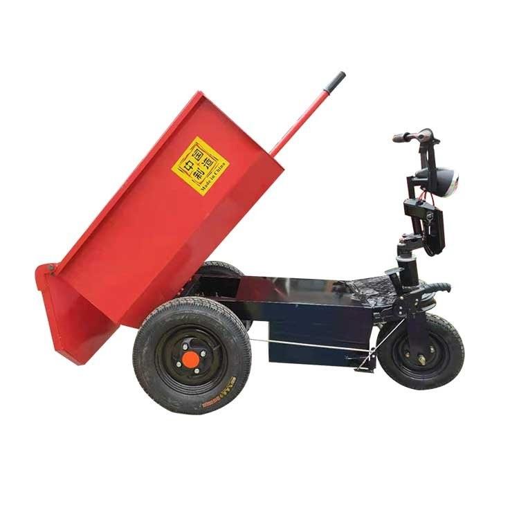 多功能电动运输车 工程小骑兵 柴油液压翻斗车 工地电动灰斗车