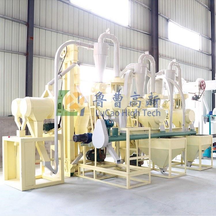 厂家直销 鲁曹高新 高效率荞麦脱皮机 制粉机机组  荞麦粉碎机